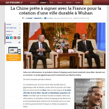 Газета на французском языке  french online magazin le figaro