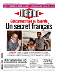 Газета на французском языке liberation, french newspaper liberation